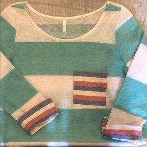 Pinkblush maternity 3/4 sleeve maternity top